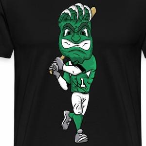custom green wave mascot baseball - Men's Premium T-Shirt