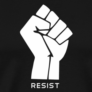 anarchy flag resist vectorized - Men's Premium T-Shirt