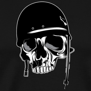 Soldier_head_skull - Men's Premium T-Shirt