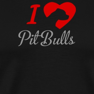 I LOVE PITBULLS ITS PEOPLE THAT ANNOY ME - Men's Premium T-Shirt