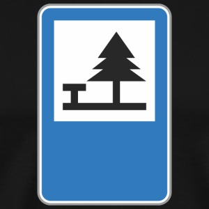 Road_sign_camping - Men's Premium T-Shirt