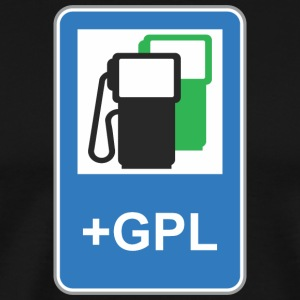 Road_sign_gas_station_green_gpl - Men's Premium T-Shirt