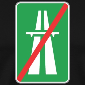 Road_sign_restricted_green_way - Men's Premium T-Shirt