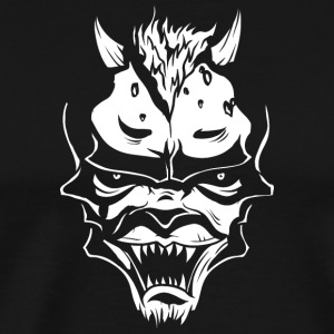 demon face white - Men's Premium T-Shirt