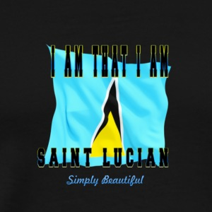 Saint Lucian Sticker - Men's Premium T-Shirt