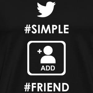 Simple friend - Men's Premium T-Shirt