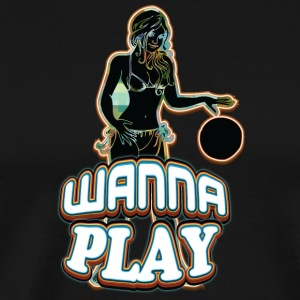 WANNA_PLAY_WITH_SEXY_GIRL_black - Men's Premium T-Shirt