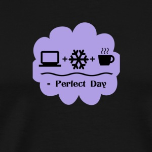Bedroom Wall Art Computer Snow Coffee Perfect Day - Men's Premium T-Shirt