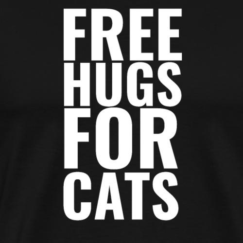 Free hugs for cats T shirt Design Cute cats - Men's Premium T-Shirt