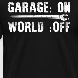 Mechanic Garage On World Off - Men's Premium T-Shirt