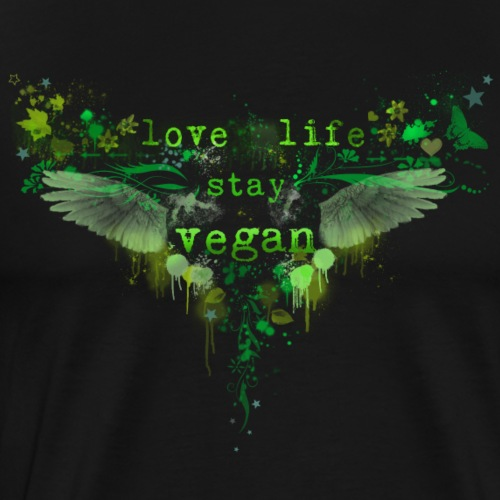 Live Life – Stay Vegan [green] - Men's Premium T-Shirt