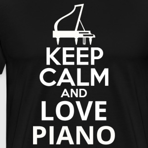 Keep Calm And Love Piano - Men's Premium T-Shirt