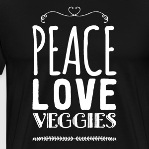 Peace love veggies - Men's Premium T-Shirt