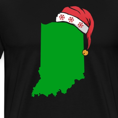Indiana Christmas Cute Christmas Gift Green US State - Men's Premium T-Shirt
