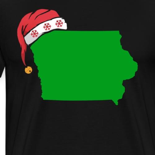 Iowa Christmas Cute Christmas Gift Green US State - Men's Premium T-Shirt