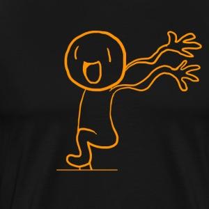Happy Running Man! - Men's Premium T-Shirt