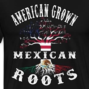 american grown mexican roots - Men's Premium T-Shirt