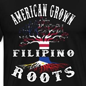 Philippines T shirt American grown Filipino roots - Men's Premium T-Shirt