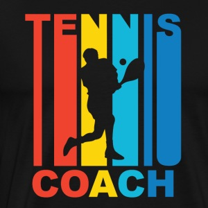 Vintage Tennis Coach Graphic - Men's Premium T-Shirt