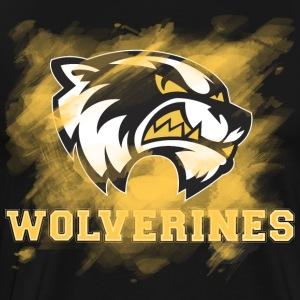 Walden Wolverines: Paint It Yellow - Men's Premium T-Shirt