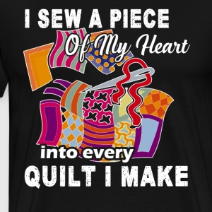 Piece of My Heart Quilting Tee - Men's Premium T-Shirt