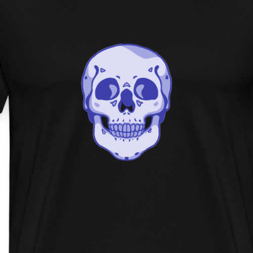 Blue Skull Vector - Men's Premium T-Shirt