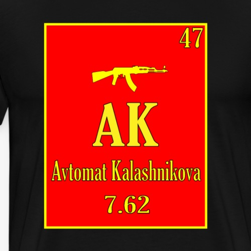 AK 47 Shirt Periodic Table Science Style - Men's Premium T-Shirt