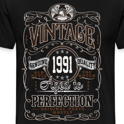 Vintage 1991 Aged To Perfection - Men's Premium T-Shirt
