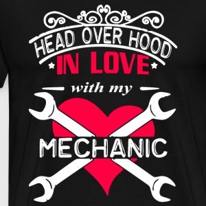 Head Over Hood In Love With My Mechanic T Shirt - Men's Premium T-Shirt
