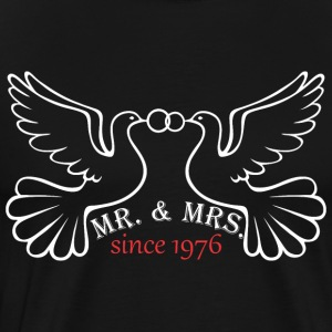 Mr And Mrs Since 1976 Married Marriage Engagement - Men's Premium T-Shirt