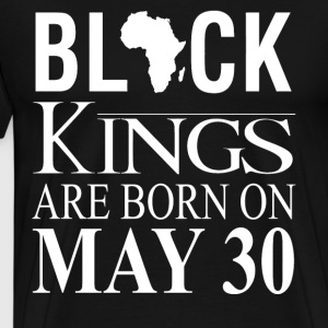 Black kings born on May 30 - Men's Premium T-Shirt