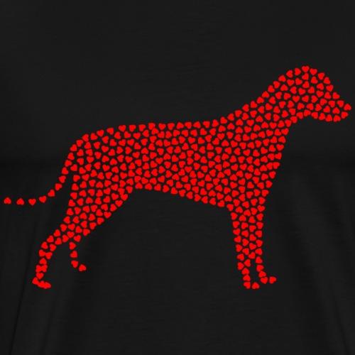dog loves full of hearts - Men's Premium T-Shirt