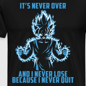 super saiyan goku - it's never over - Men's Premium T-Shirt