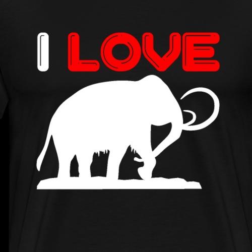I love mammoth silhouette - Men's Premium T-Shirt