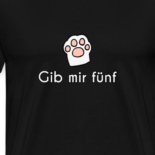 Gib mir Fünf Cat Paw - Men's Premium T-Shirt