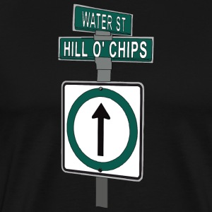 Hill O Chips Street Sign St. John's NL - Men's Premium T-Shirt