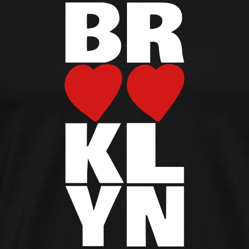 Brooklyn Hearts Vertical Graphic - Men's Premium T-Shirt