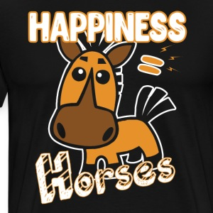 Horses Happiness T-shirt - Men's Premium T-Shirt