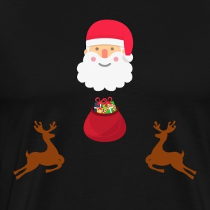 Santa and his Reindeers - Men's Premium T-Shirt