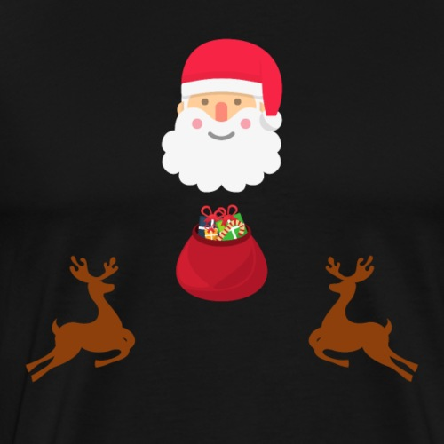 Santa and his Reindeers - Men's Premium T-Shirt