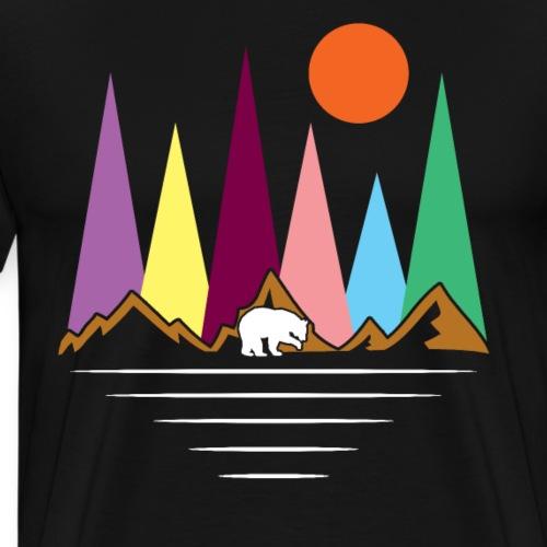 Travel Bear Wild Spirit - Men's Premium T-Shirt