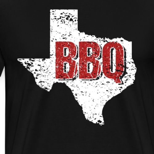 Texas BBQ Barbeque State Distressed - Men's Premium T-Shirt