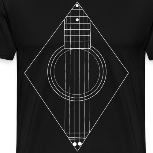 Acoustic Guitar Art - Men's Premium T-Shirt