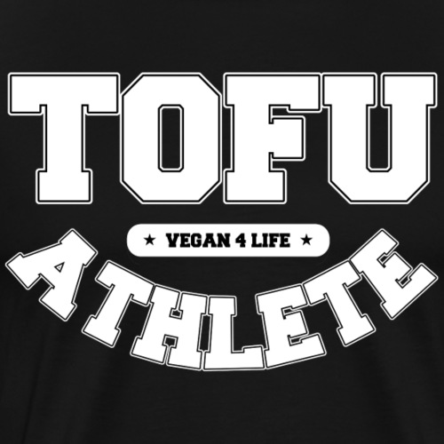 Tofu Athlete – Vegan 4 Life [white] - Men's Premium T-Shirt