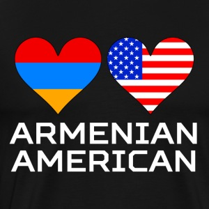Armenian American Hearts - Men's Premium T-Shirt