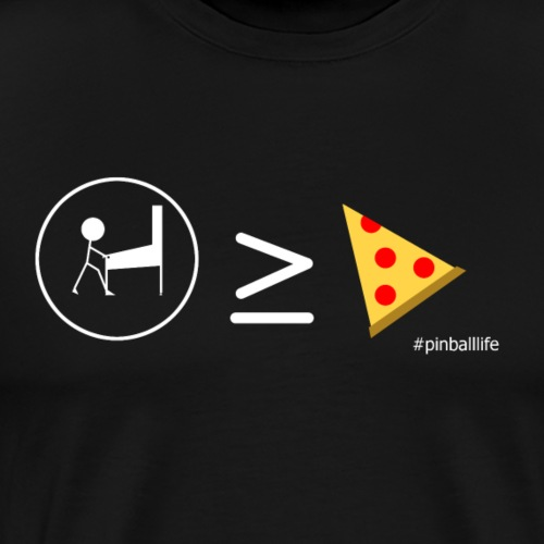 Pinball is greater than or equal to pizza - Men's Premium T-Shirt