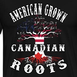 Canadian Roots american Grown - Men's Premium T-Shirt