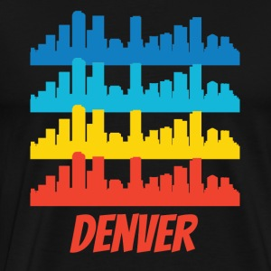 Retro Denver CO Skyline Pop Art - Men's Premium T-Shirt