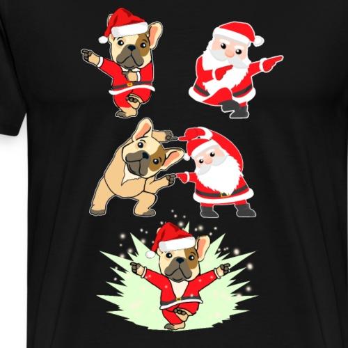 Bulldog funny noel - Men's Premium T-Shirt