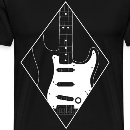 Double Cut Single Coil Art Guitar Guitarist - Men's Premium T-Shirt